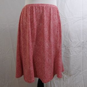 Express Pink and White Skirt Size Large